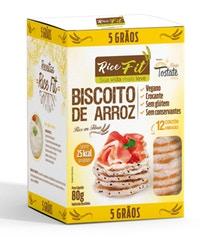 Biscoito de Arroz Rice Fit 5 grãos