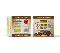 Biscoito de Arroz Mini Rice Fit Choc Meio Amargo Fit