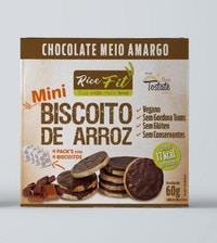 Biscoito de Arroz Mini Rice Fit Choc Meio Amargo Fit