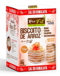 Biscoito de Arroz Rice Fit Sal Himalaia