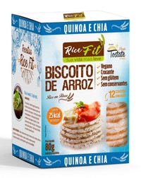 Biscoito de Arroz Rice Fit Quinoa e Chia