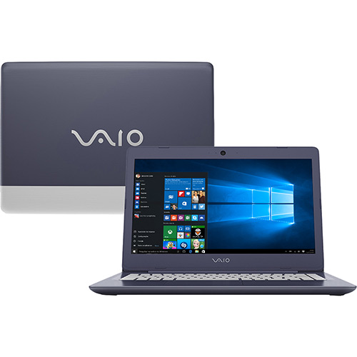 Notebook VAIO C14 VJC141F11X Intel Core i3 4GB 128SSD Tela LCD 14